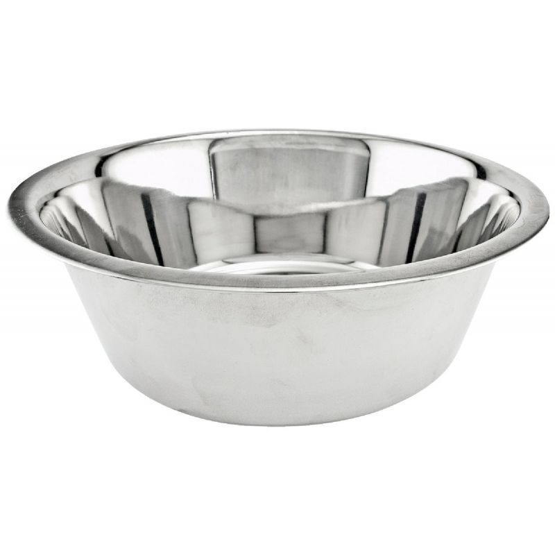 Westminster Pet Ruffin' it Stainless Steel Pet Food Bowl 2.7 Qt, Stainless Steel