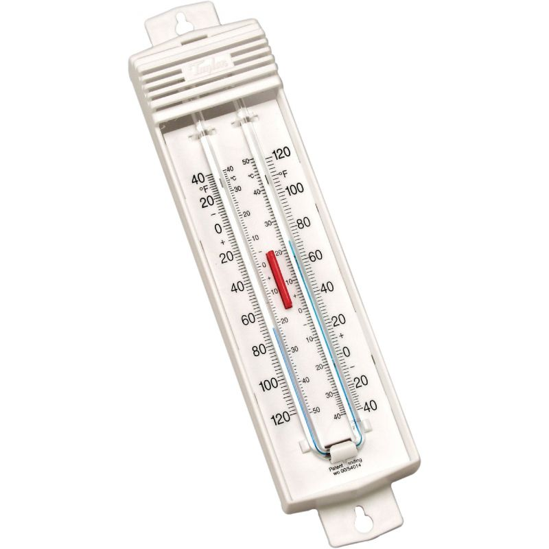 "Taylor Min-Max Indoor And Outdoor Thermometer 2-3/4"" W X 8-3/4"" H, White"