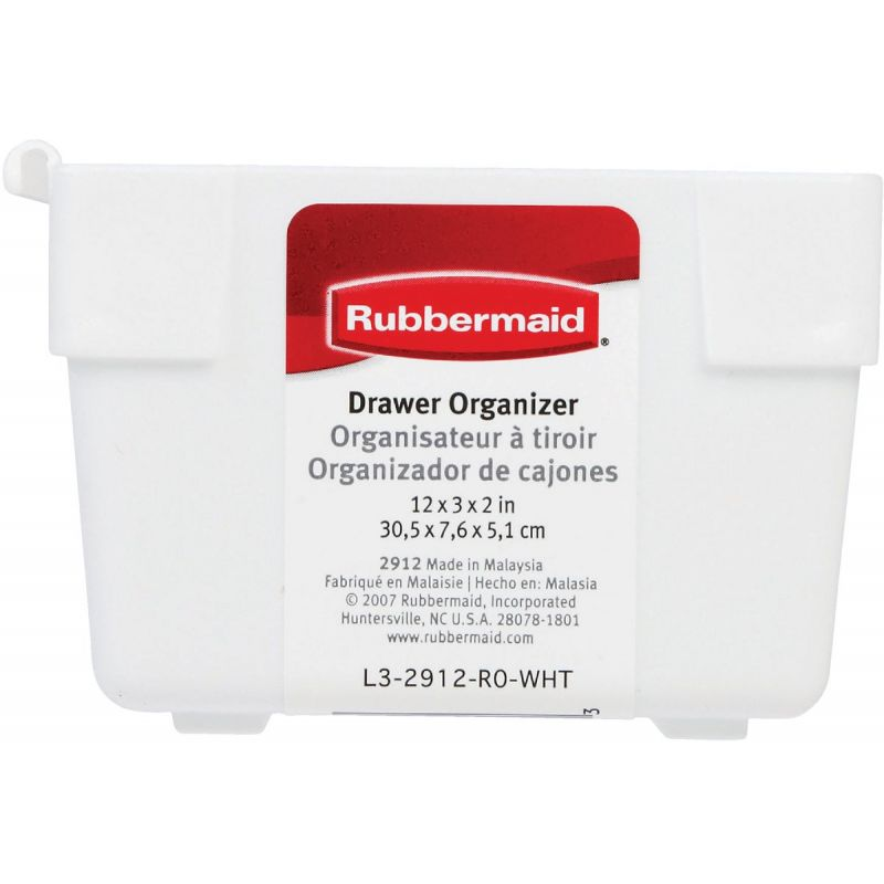 Rubbermaid Drawer Organizer Tray White