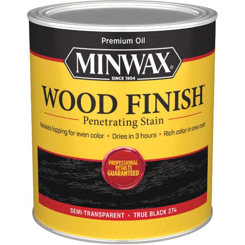 Minwax Wood Finish Penetrating Stain 1 Qt., True Black