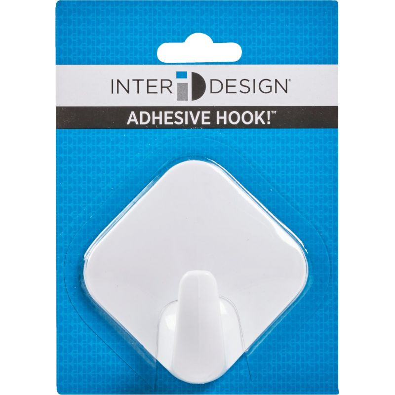 InterDesign Diamond Adhesive Hook White