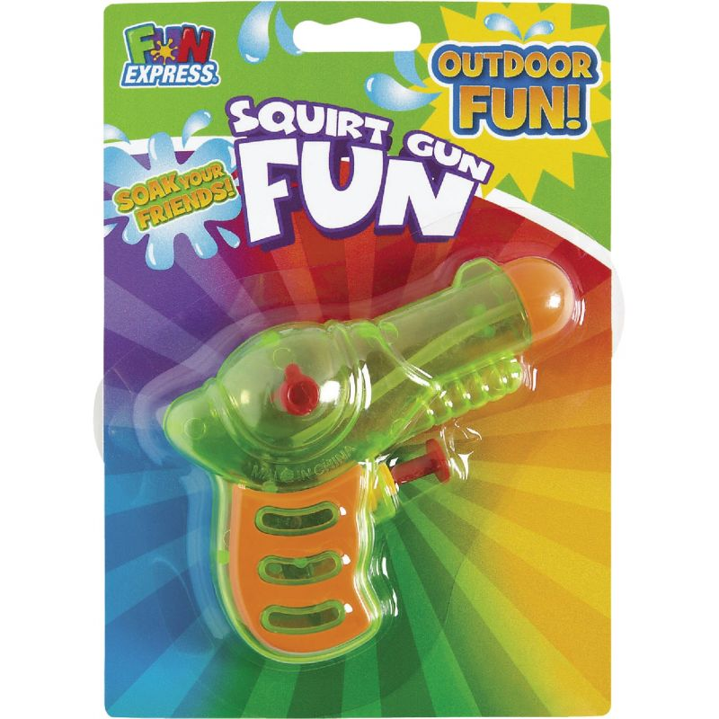 Fun Express Neon Squirt Gun 3 In. X 4 In., Assorted Neon Colors (Pack of 12)