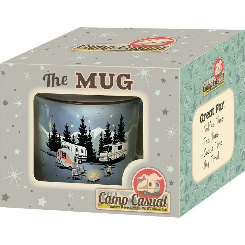 Camp Casual Coffee Mug 15 Oz., Blue With Design
