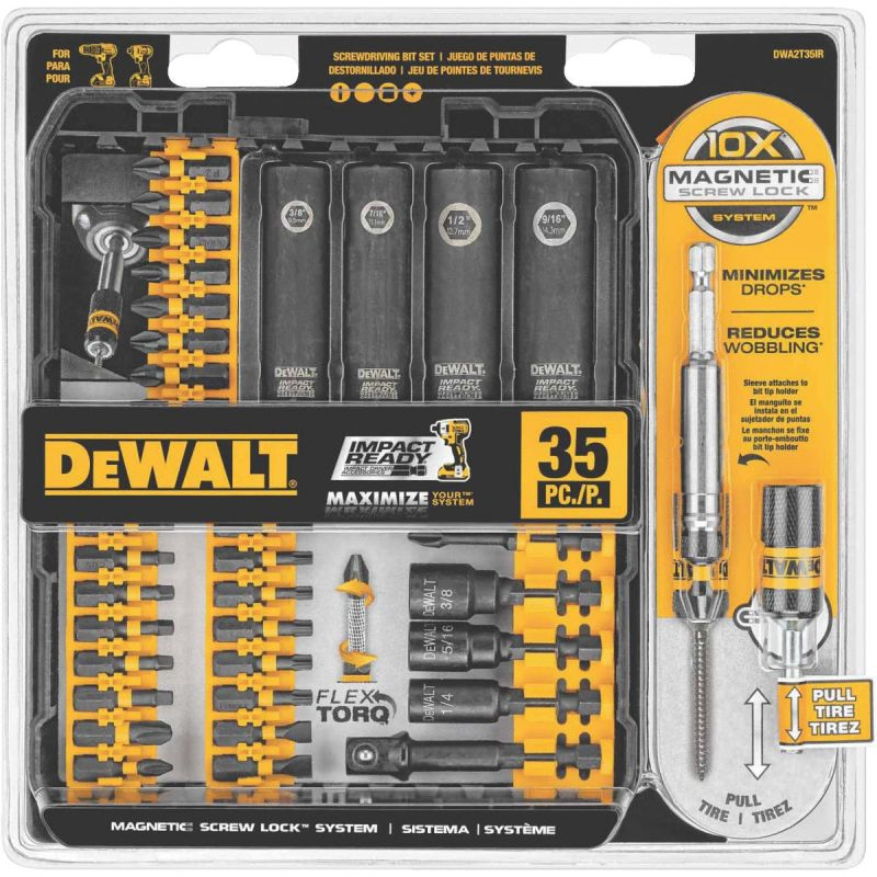 DeWalt 35-Piece Impact Screwdriver Bit Set