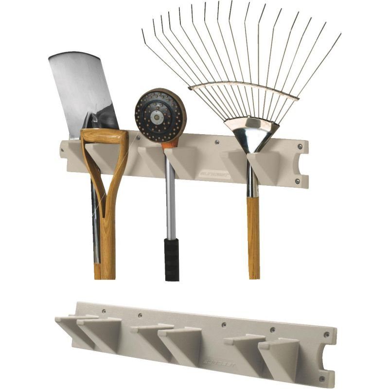 Suncast Tool Hanger Long Handle Tool Rack Taupe