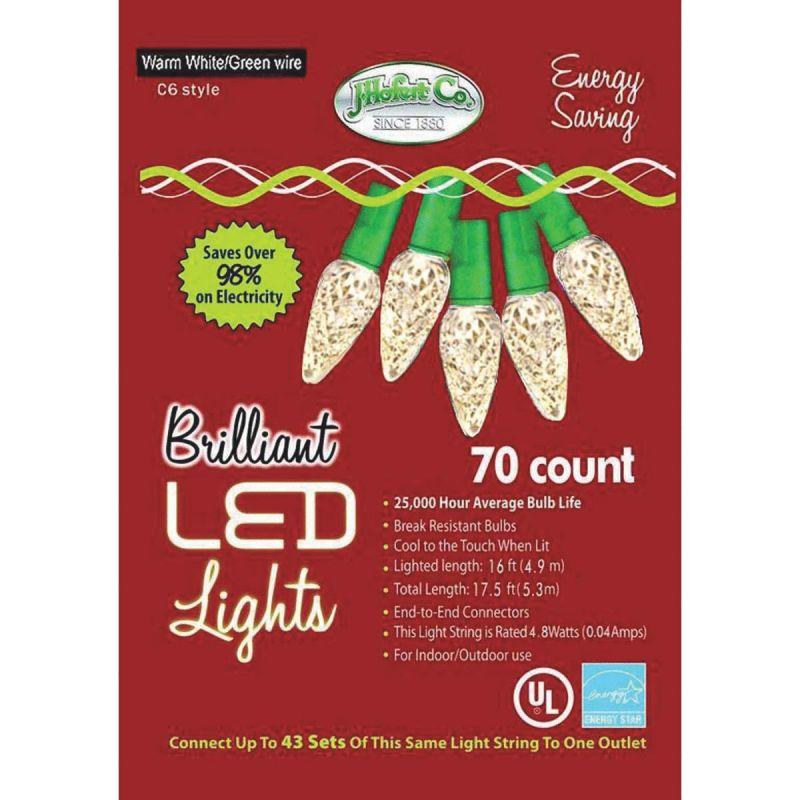J Hofert Warm White 70-Bulb C6 LED Light Set