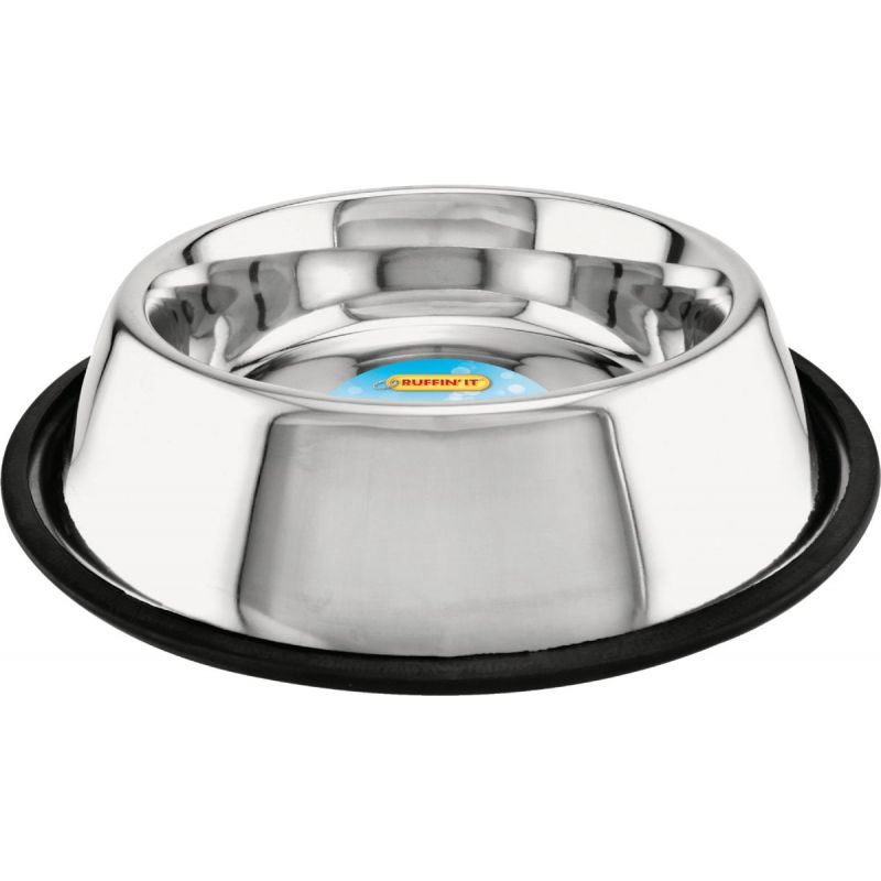 Westminster Pet Ruffin' it Stainless Steel Non-Skid Pet Food Bowl 32 Oz., Stainless Steel