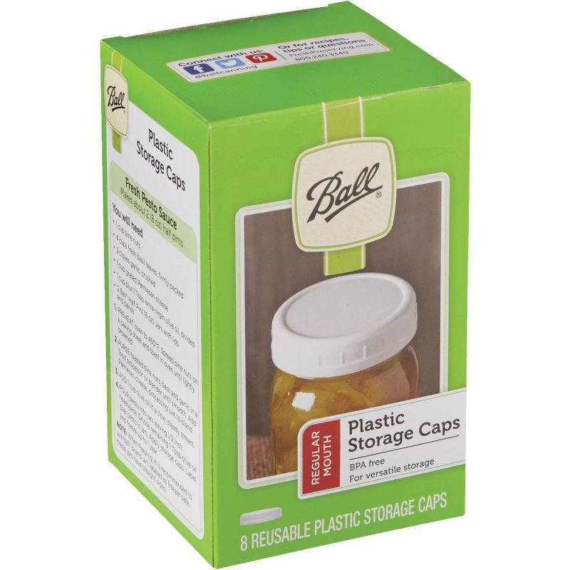 Ball Plastic Reusable Storage Cap Regular, White