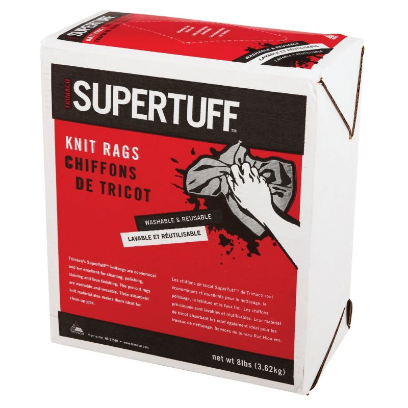 Trimaco SuperTuff Painters Rags 8 Lb., White