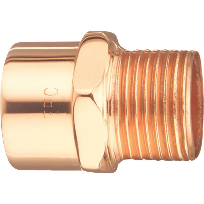 Elkhart Male Reducing Copper Adapter 3/8 In. X 1/2 In.