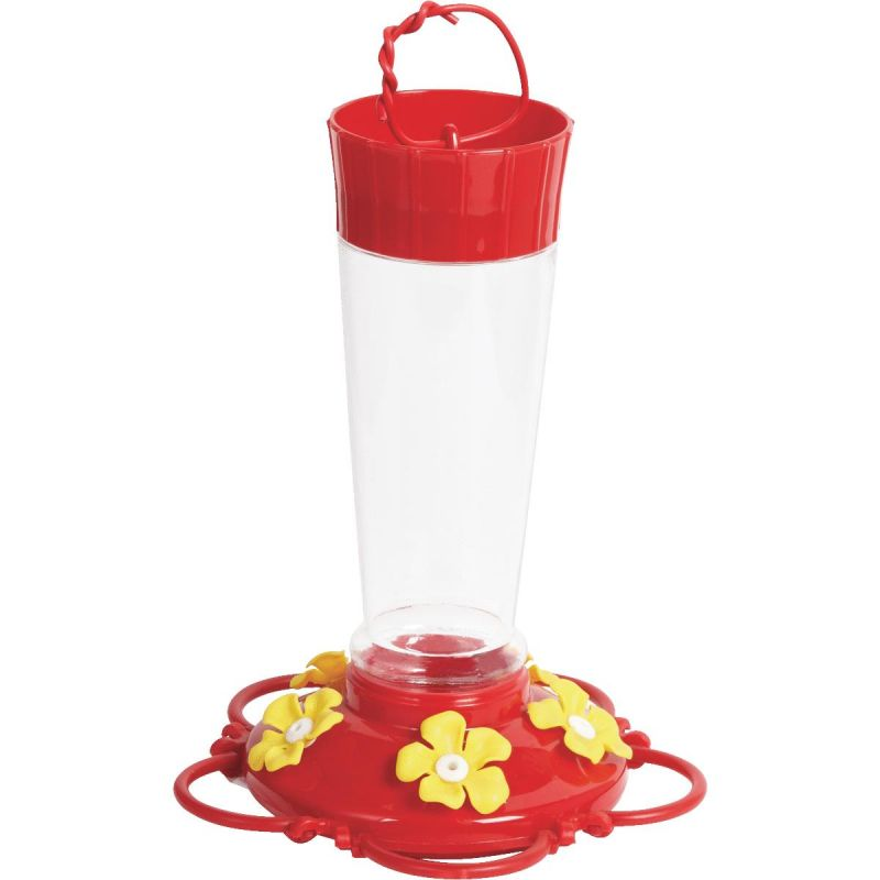 Best Garden 10 Oz. Plastic Hummingbird Feeder 10 Oz., Red