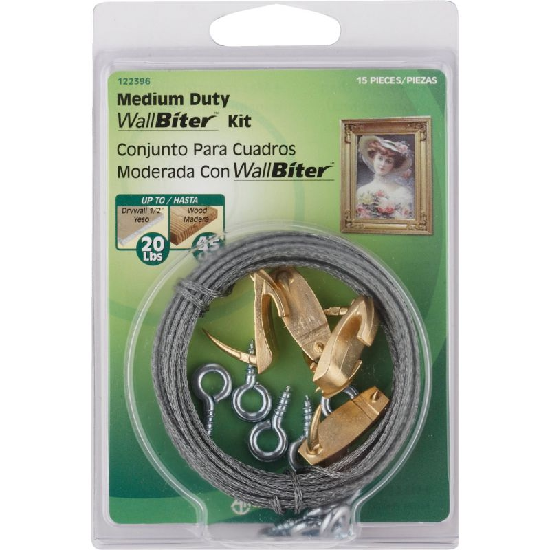 Hillman Anchor Wire Wallbiter Picture Hanging Kit 20 Lb
