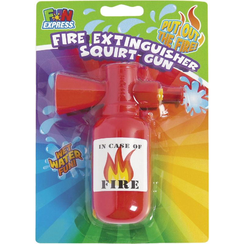 Fun Express Fire Extinguisher Squirt Gun 3-1/2 In. X 4-1/4 In., Red (Pack of 12)