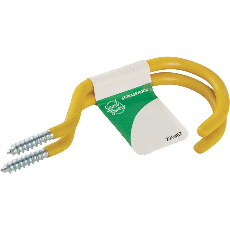 Smart Savers Large Storage Hook Yellow (Pack of 12)