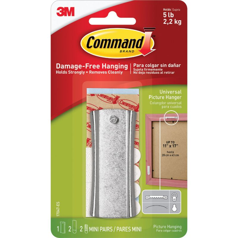 Command Universal Adhesive Picture Hanger Clear