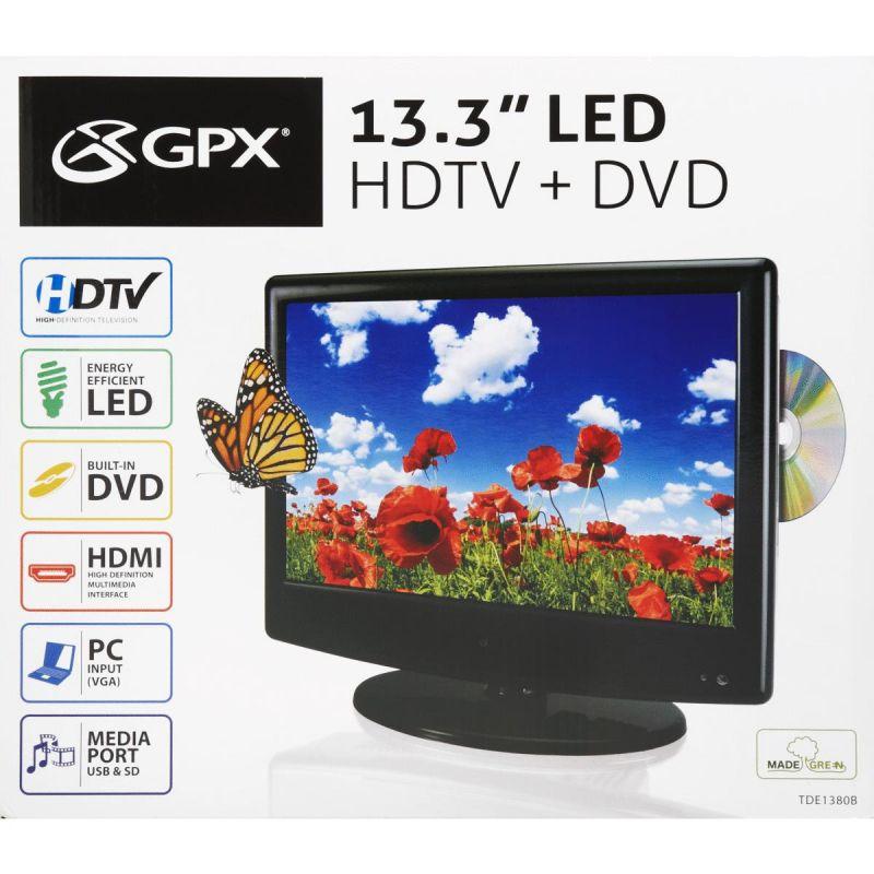 GPX 15 In. Color LED TV/DVD 15 In., Black