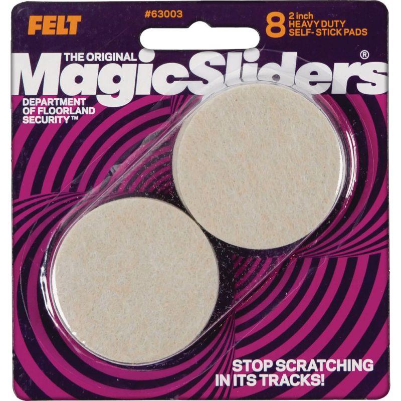 Magic Sliders Self Adhesive Felt Furniture Pad 2 In., Oatmeal