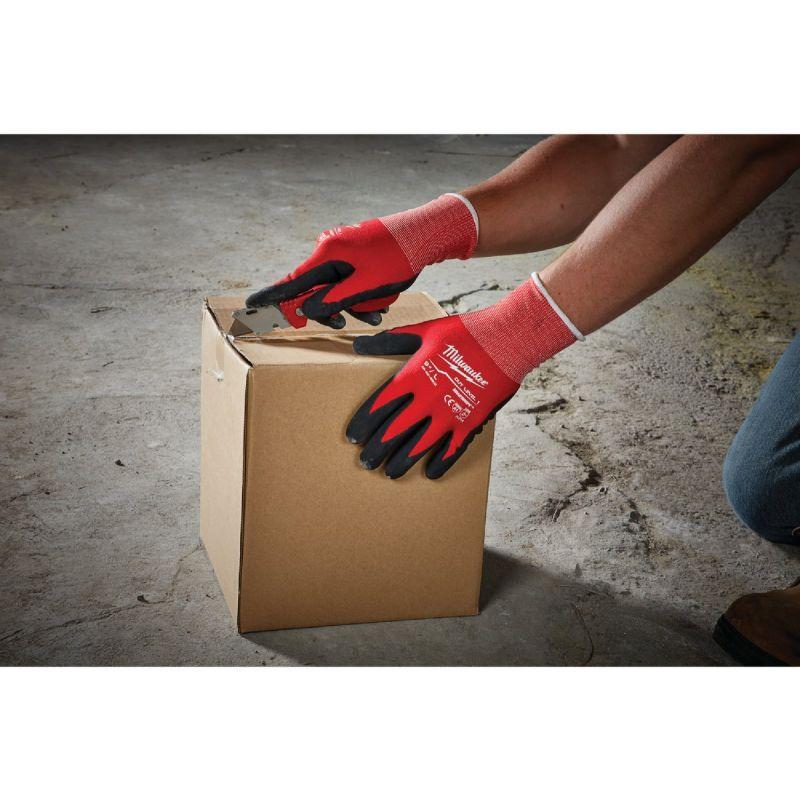 Milwaukee Nitrile Coated Cut Level 1 Work Glove XL, Red
