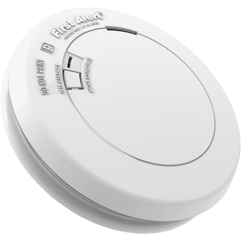 First Alert 10-Year Battery Slim Round Carbon Monoxide/Smoke Alarm White
