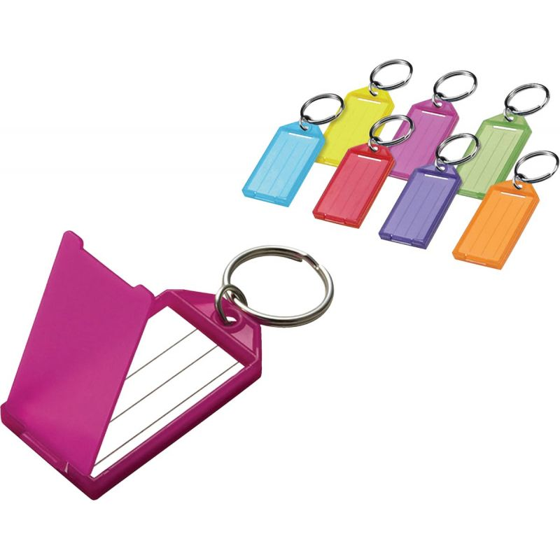 I.D. Key Tag With Ring Assorted