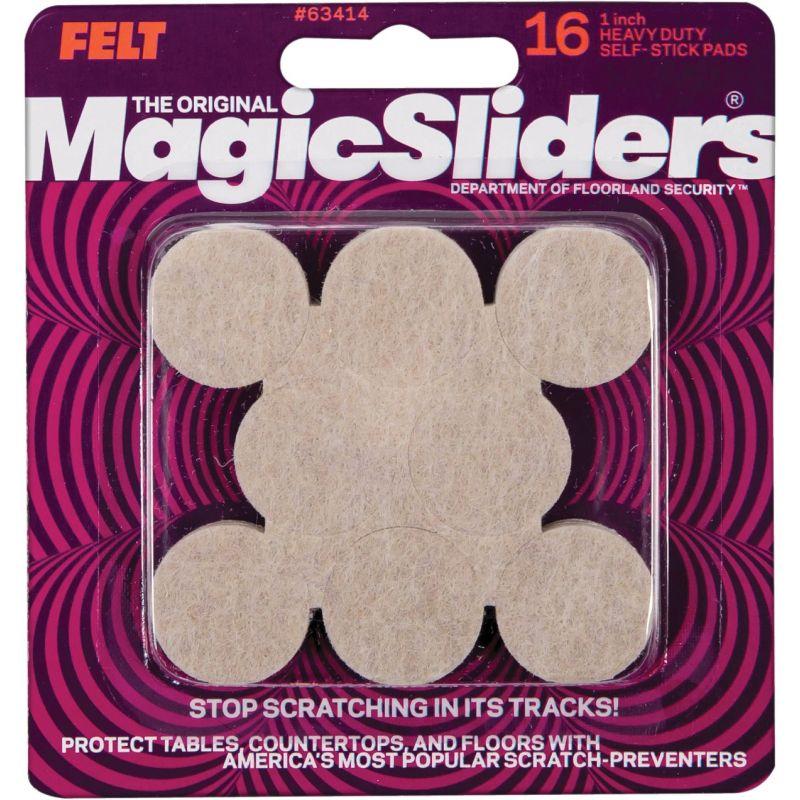 Magic Sliders Felt Pad 1 In., Oatmeal