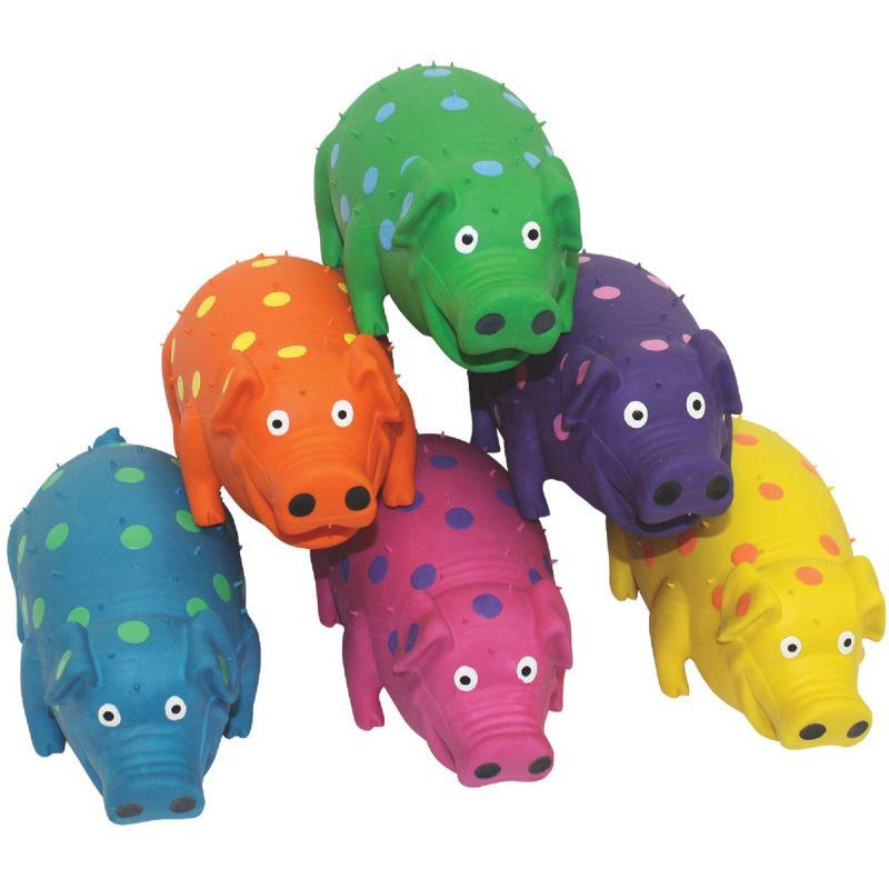Multipet Globlets Pig Dog Toy 9 In., Assorted