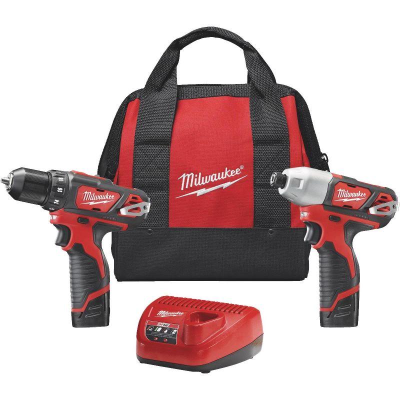 Milwaukee M12 Li-Ion Drill & Impact Cordless Tool Combo Kit