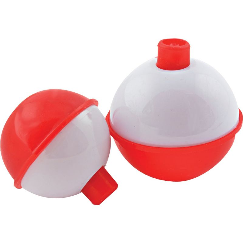 SouthBend Push-Button Fishing Bobber Floats Red & White