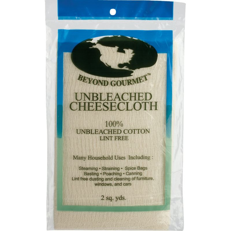 Beyond Gourmet Unbleached Cheesecloth 2 Sq Yds, White