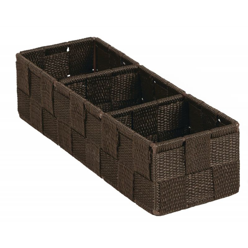 Home Impressions Woven Storage Tray Brown