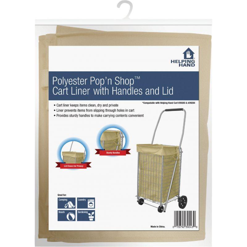 Pop 'N Shop Shopping Cart Liner Tan