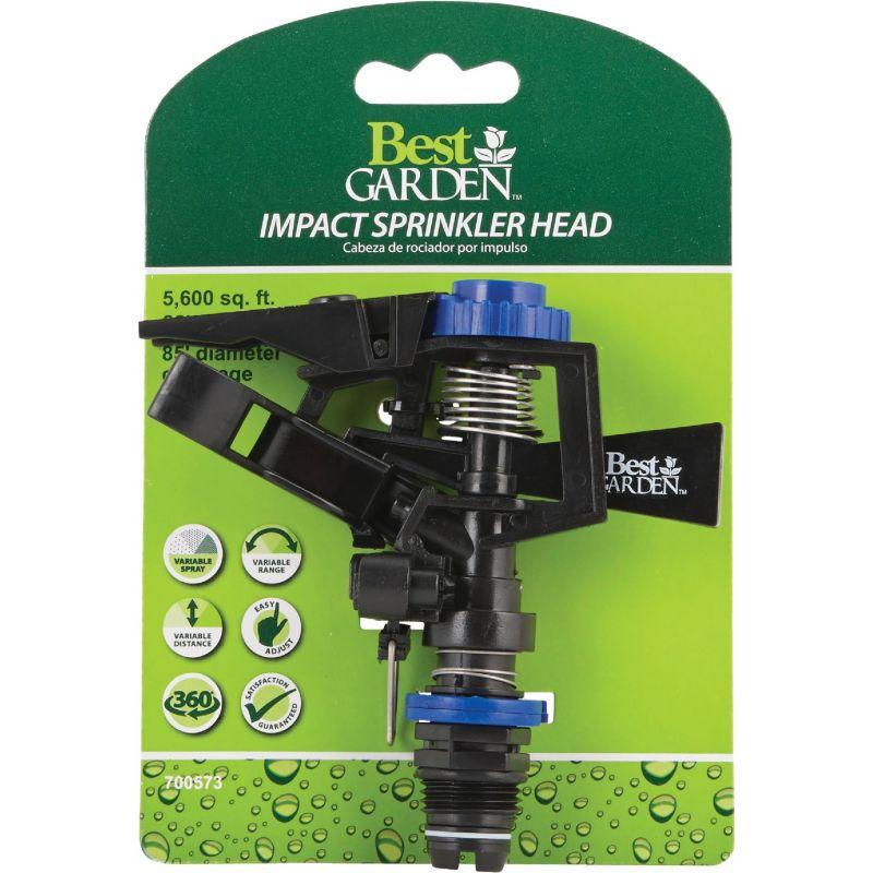 Best Garden Poly Impulse Sprinkler Head Blue & Black