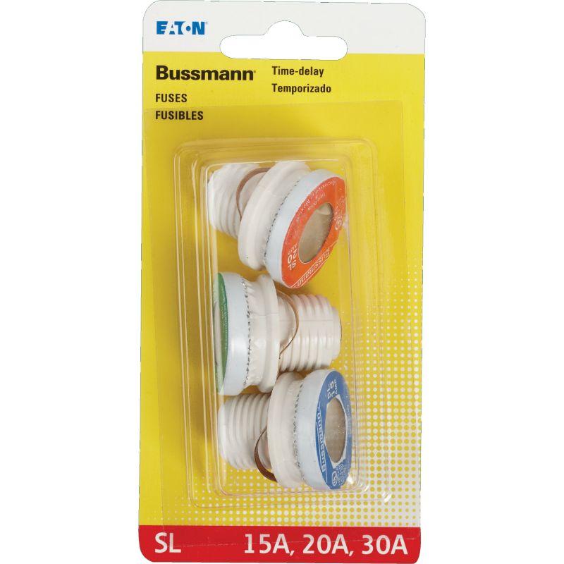 Bussmann SL Plug Fuse Assortment 10kA, 15A, 20A, 30A