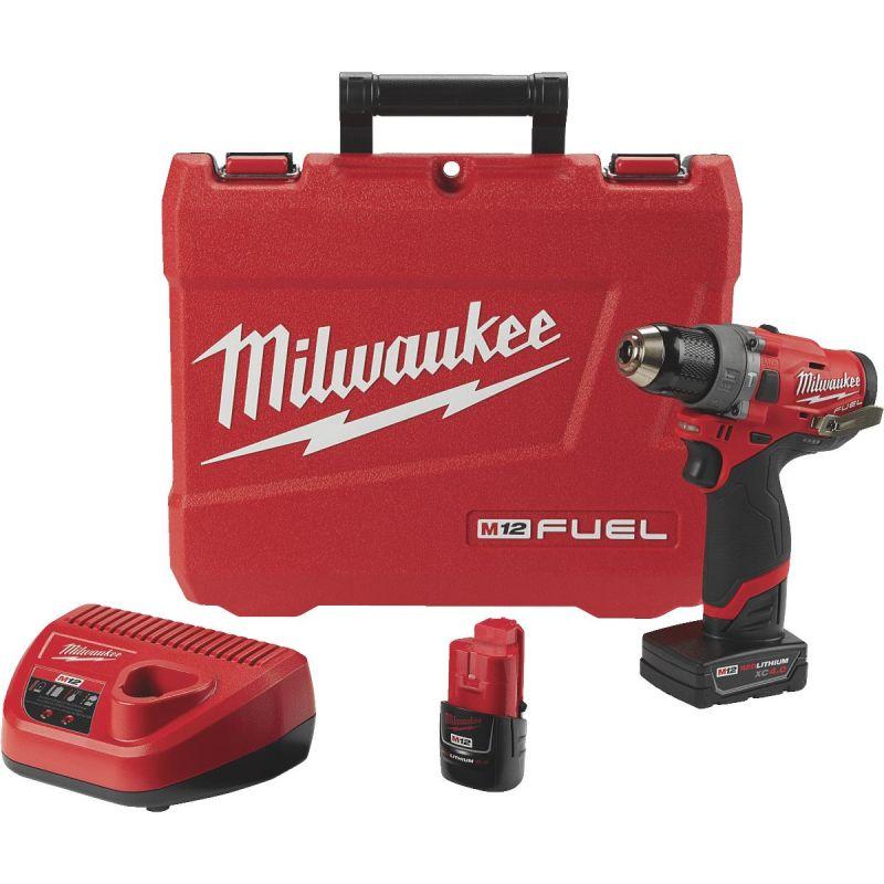 Milwaukee M12 Lithium-Ion Brushless Cordless Hammer Drill Kit