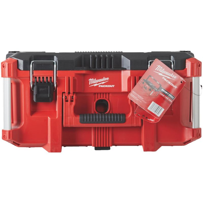 Milwaukee PACKOUT Toolbox 100 Lb., Red/Black