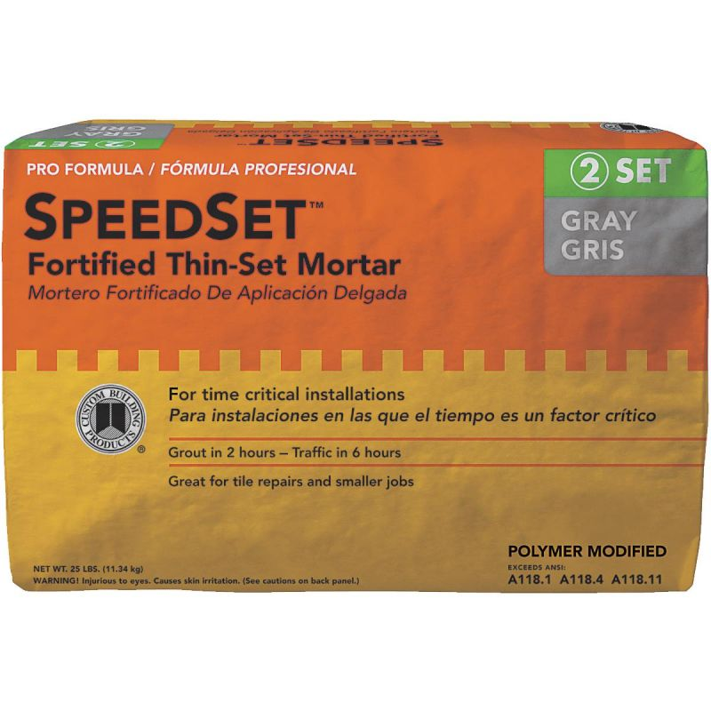 Custom Building Products SpeedSet Fortified Thin-Set Mortar 25 Lb., Gray