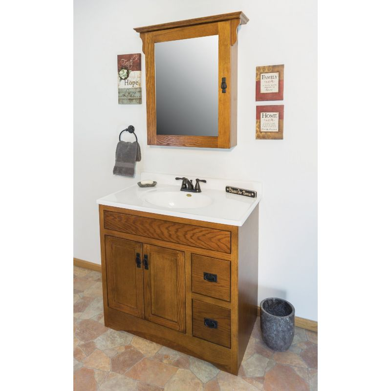CraftMark Craftsmen Estate Vanity Base Oak, Craftsmen Estate