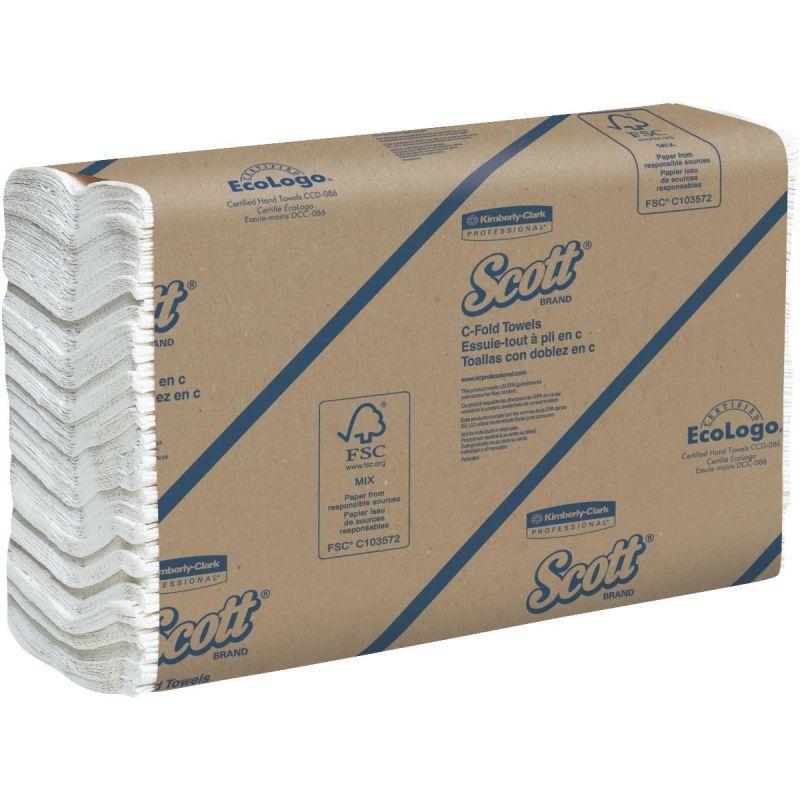 Kimberly Clark Scott C-Fold Hand Towel White