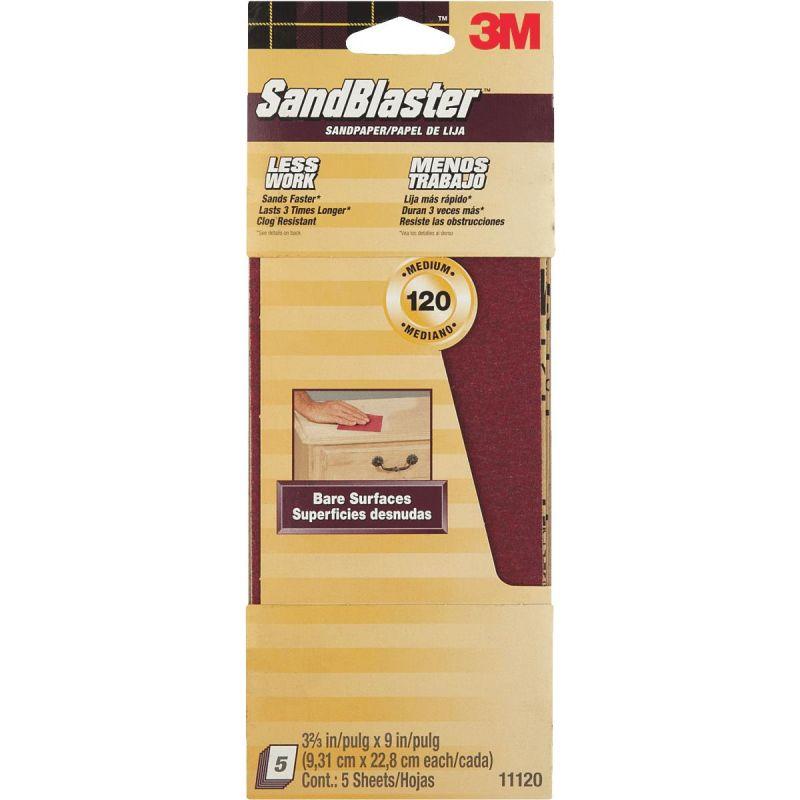 3M SandBlaster No Slip Grip Backing Sandpaper