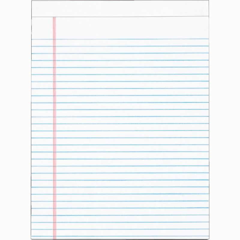 Staples Legal Pad 8-1/2 In. W. X 11 In. H., White