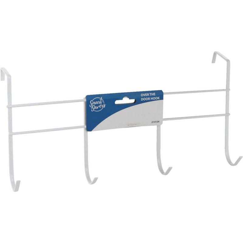 Smart Savers Over The Door Hook White (Pack of 12)