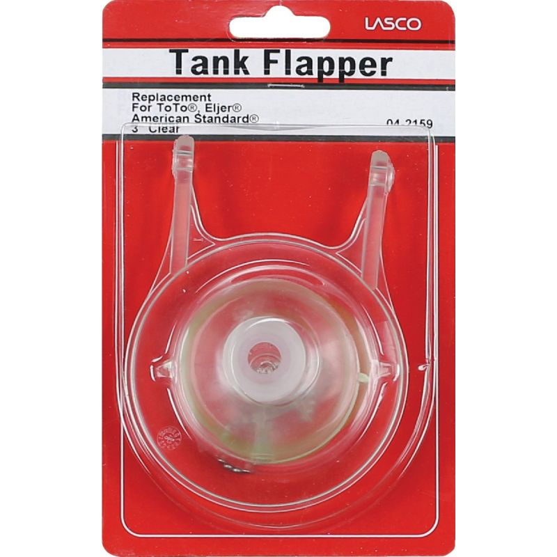 """Lasco 3"""" Universal Fit Replacement Flapper with Chain 3 In., White"""