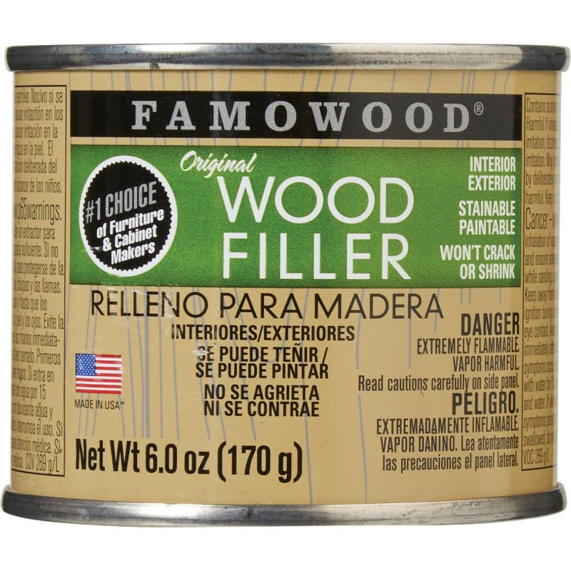 FAMOWOOD Wood Filler 6 Oz., Red Oak