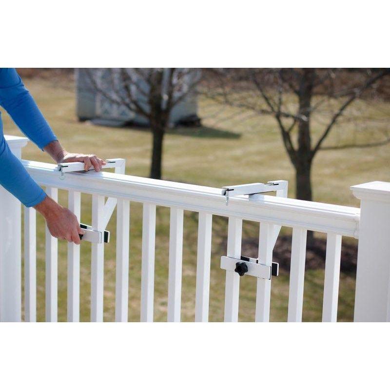 Love Your Deck Railing Table Hardware Kit White