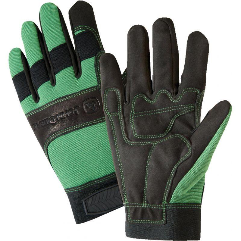West Chester John Deere Winter Work Glove XL, Green & Black