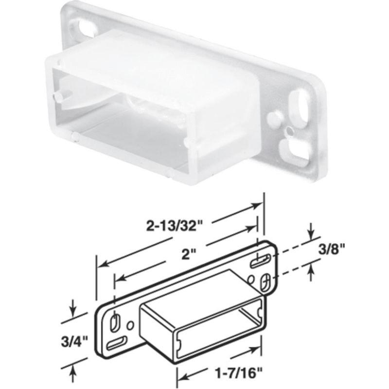 Prime-Line Nylon Track Socket White