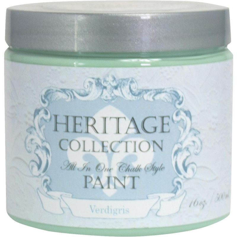 All-In-One Chalk Style Paint Verdigris - Sage Green Pint
