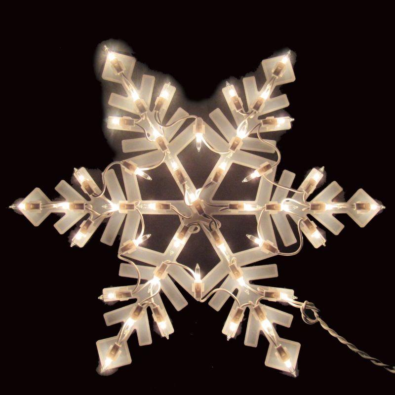 J Hofert Lighted Snowflake 15.5 In.