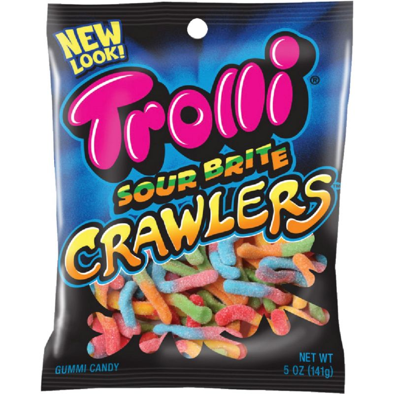Trolli Sour Brite Crawlers Gummi Worms 5 Oz. (Pack of 12)
