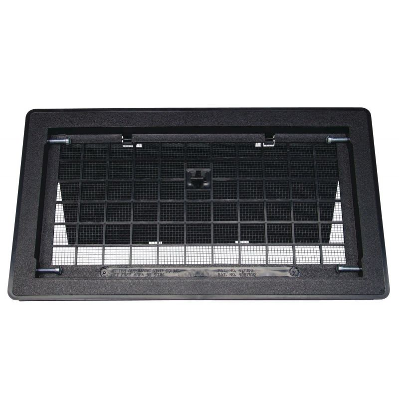 Witten Manual Foundation Vent with Damper 8 In. X 16 In., Black